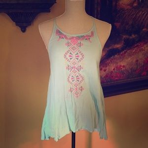 Truth- Pretty High Neck sleeveless Top. Size M